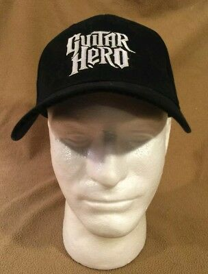 b5a94b4c3ea New baseball HAT BALL CAP GUITAR HERO Black White Embroidered Video game  ps2 ps3