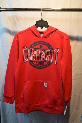 Carhartt Red Hooded Sweatshirt Kids/Youth/Teenager Sizes CA8729 NWT