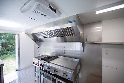 8' Food Truck Hood System with Exhaust Fan