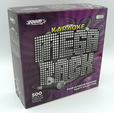 Zoom Karaoke Mega Pack Box Set - 500 Popular Karaoke Hits - 26 CD+G Set - New!