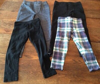 Lot Of Girls 4t Leggings Preowned Old Navy, multicolored