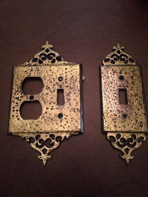 Vintage Brass Emig Light Switch Covers