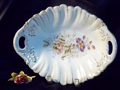 Made in Germany Fine Floral Oval Tray Decor Centerpiece