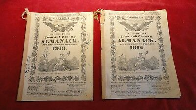 Great Antique Pair Of Almanacks-1910-1912 -Hagerstown Maryland