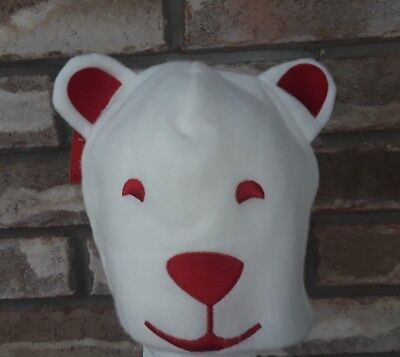 2012 Coca Cola Arctic Home Polar Bear Adult Size Fleece Hat New With Tags