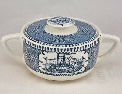 Currier & Ives Collectible Sugar Bowl w/ Lid