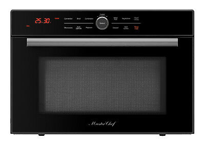Master Chef, 4 Ovens in 1, High Speed Convection Microwave, Countertop-Black