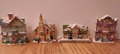 House Of Lloyd Christmas Around The World Hometown Magnets Set Of 4 Tiny Village