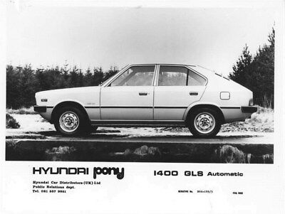 1982 Hyundai Pony 1400 GLS Automatic Korea ORIGINAL Factory Photo oua0936