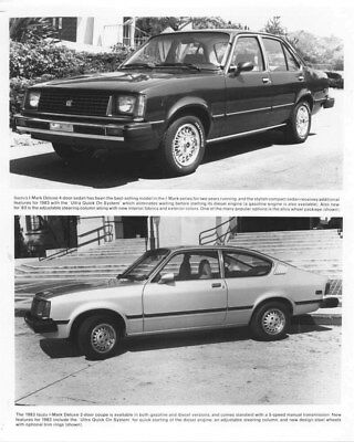 1983 Isuzu I Mark Deluxe Sedan & Coupe ORIGINAL Factory Photo oua1004