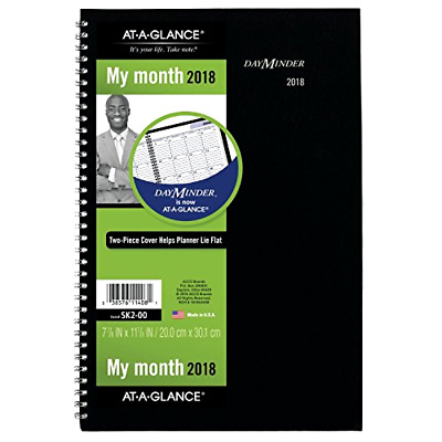 AT-A-GLANCE Day Minder Monthly Planner 2018 December 2017 to January 2019 Black
