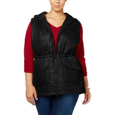 Style & Co. 1375 Womens Water Repellent Pattern Puffer Vest Outerwear Plus BHFO
