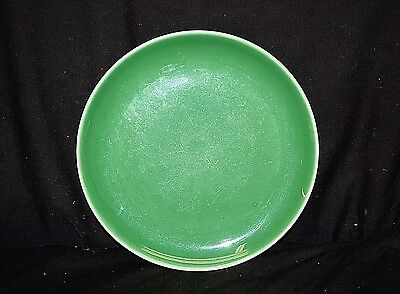 """Old Vintage Ballerina Green by Universal 9"""" Luncheon Plate Union Made In USA MCM"""