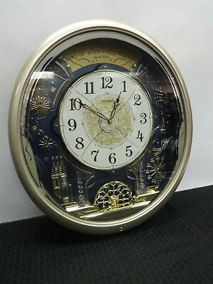 Seiko Melodies in Motion Special Edition Wall Clock QXM239ARH 6 Melodies