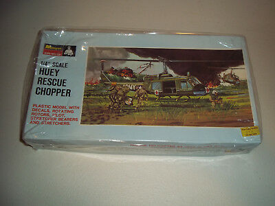 "Monogram 1/4"" Scale Huey Rescue Chopper Pa152 Mib New"