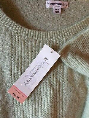 NWT Liz Lang Maternity Scoop Neck Knit Sweater Woman's Size M Color Mint Green