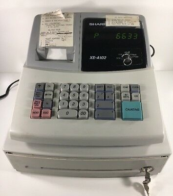 Cash Register XE-A102  with Keys and Instructions, Sharp Electronic