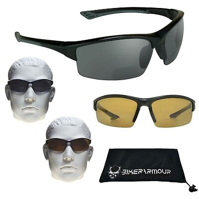 TR90 Unbreakable Polarized BIFOCAL Sunglasses Readers Motorcycle Cycling Golf