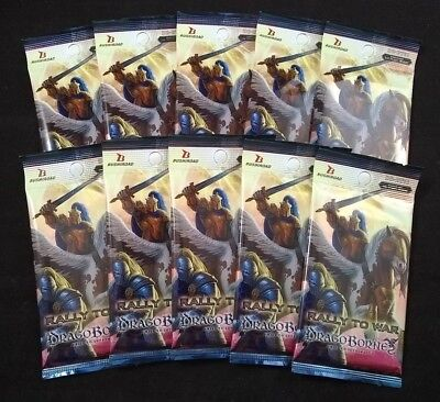 Dragoborne: Rise to Supremacy Rally to War 10 Booster Packs New Sealed