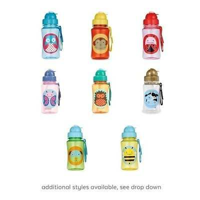 Skip Hop Zoo Straw Bottle - Kids Boys Girls Drinking Water Container - NEW GIFTS