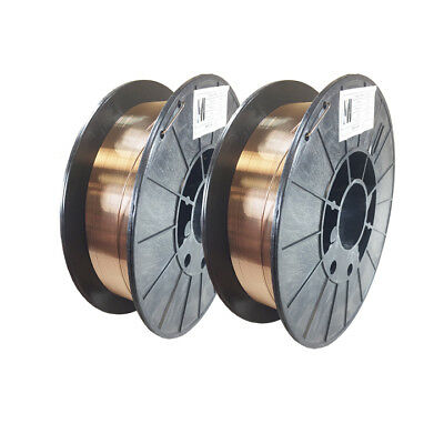 2 X ERCuSi-A .030 X 10 lb Spool Silicon Bronze copper welding wire (2 Reels)