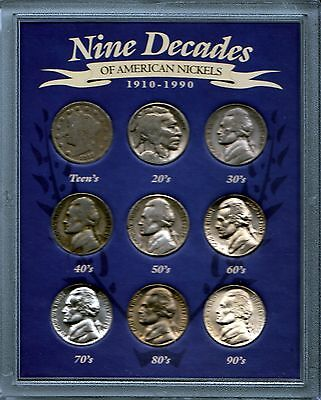 "Nine Decades of ""American Nickels"" 1910-1990 American Hisotoric Society"