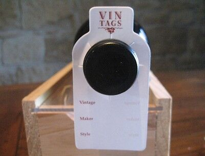 Wine Bottle Storage Tags - Vin Tags, 10 packs of 50 wine tags for rack or cellar