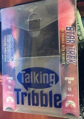 Star Trek Talking Tribbles Gift Set 2 VHS & Tribble Rare HTF