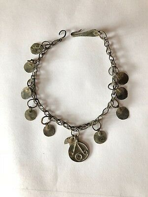 Rare Ancient Roman Bronze Necklace & Earrings 1-2 Century
