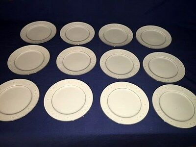 """12 Seyei Fine China """"Chateau"""" ~ 7 1/2"""" Salad Plates ~ Excellent"""