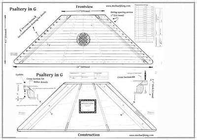 Plucked Psaltery in G:  printed plans with CD/files