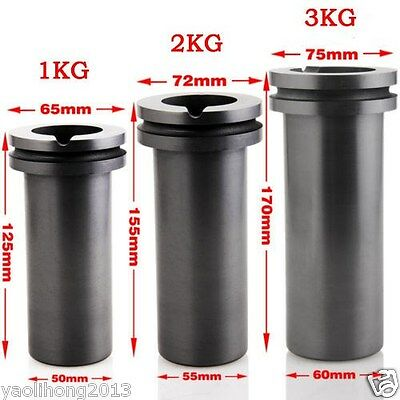 1pc High Purity Graphite Casting Melting Crucible 1KG or 2KG  3KG Gold & Silver