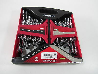 Husky 28-Piece SAE and Metric Combination Wrench Set 1000 016 289