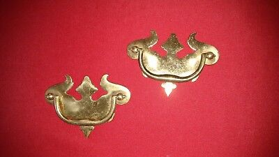 Chippendale drawer pulls, solid Brass,