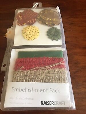 Kaisercraft Dear Santa Embellishment Pack - Brand New