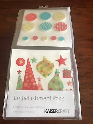 Kaisercraft Christmas Carnival Collection Embellishment Pack - Brand New