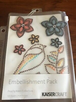 Kaisercraft Peachy Keen Collection Embellishment Pack - Brand New