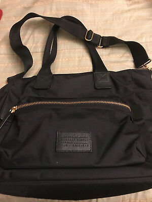 Marc Jacobs Black Nylon Diaper bag with changing pad