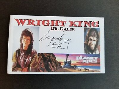 """Planet Of The Apes"" (1968) WRIGHT KING ""DR. GALEN"" Autographed 3x5 Index Card"