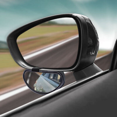 Convex Clip On Half Oval Angle Rearview Mirror Blind Spot Mirror For Car Auto