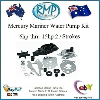 A New Water Pump Kit Mercury Mariner 6hp-thru-15hp 2 / Strokes # R 46-42089A5