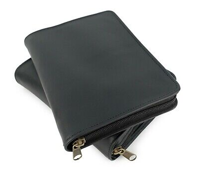 Black Authentic Leather Scripture Cover Cases for LDS Bible / Triple Set  - NEW