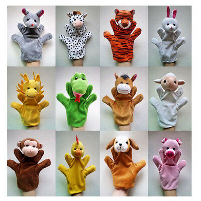 Animal Wildlife Hand Glove Puppet Soft Plush Puppets Kid Childrens Toy 12Partten
