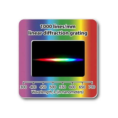 4x Linear Diffraction Grating Slide Holographic 1000 lines/mm Free Shipping