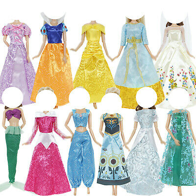 Copy Fairy Tale Princess Evening Party Dress Accessories Clothes For Barbie Doll
