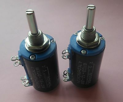 2pc Multi-Turn Wirewound Potentiometers WXD3-12 1K 1.5K 2.2K 10K  to 22K Ω OHM