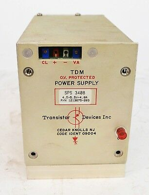 Transistor Devices Inc SPS 3408 DC Power Supply 4.5-5.5VDC 4A 1213675-203