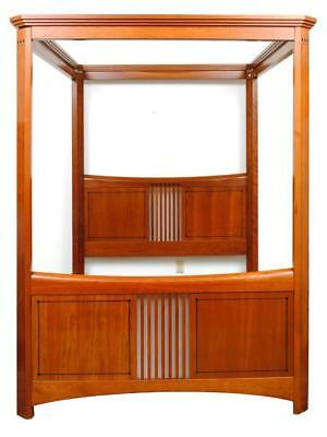 STICKLEY SECESSIONIST STYLE CANOPY BED. Lot 366