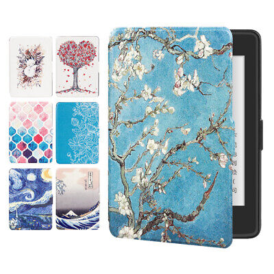 Magnetic Painted Smart Case Cover for Kindle Paperwhite1/2/3 Leather 6in DP75SDI