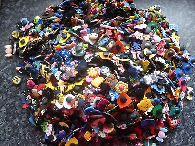 Lot of 20 jibbitz mixed random boys & girls crocs shoe loom charms cake toppers